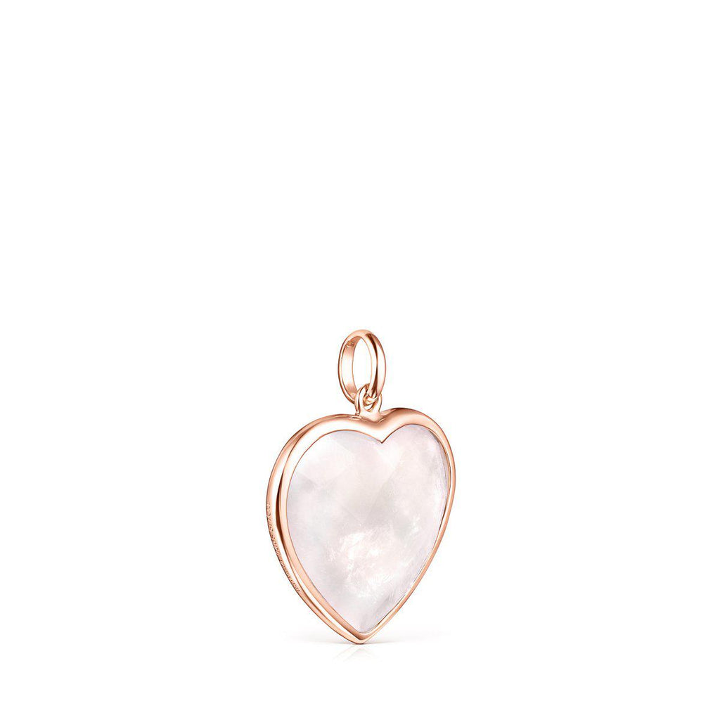 Rose Silver Vermeil and Pink Quartz Sweet Dolls Color Pendant