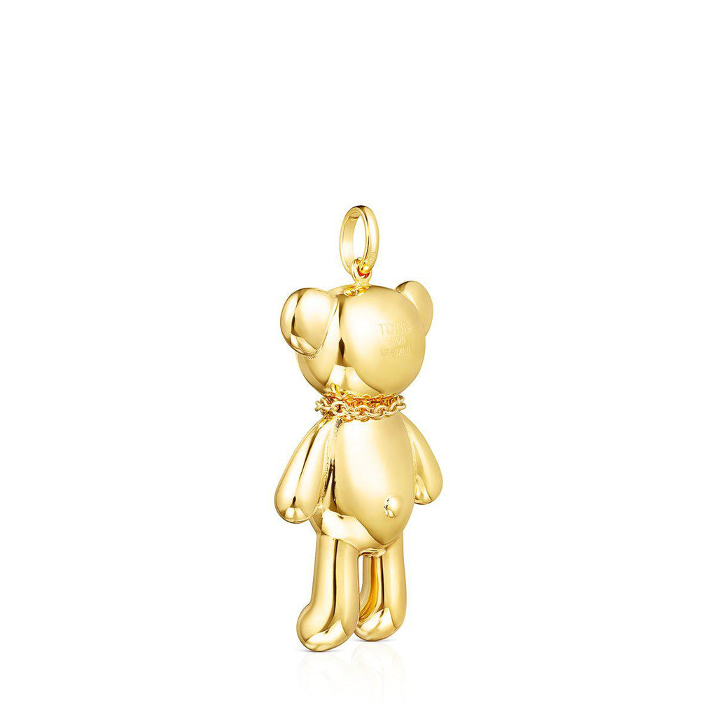 Teddy Bear Necklace Pendant with Spinels-Pendant-Tous Canada
