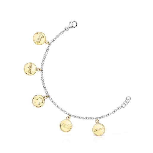 Two-toned Steel TOUS Good Vibes medallions Bracelet-Tous Canada
