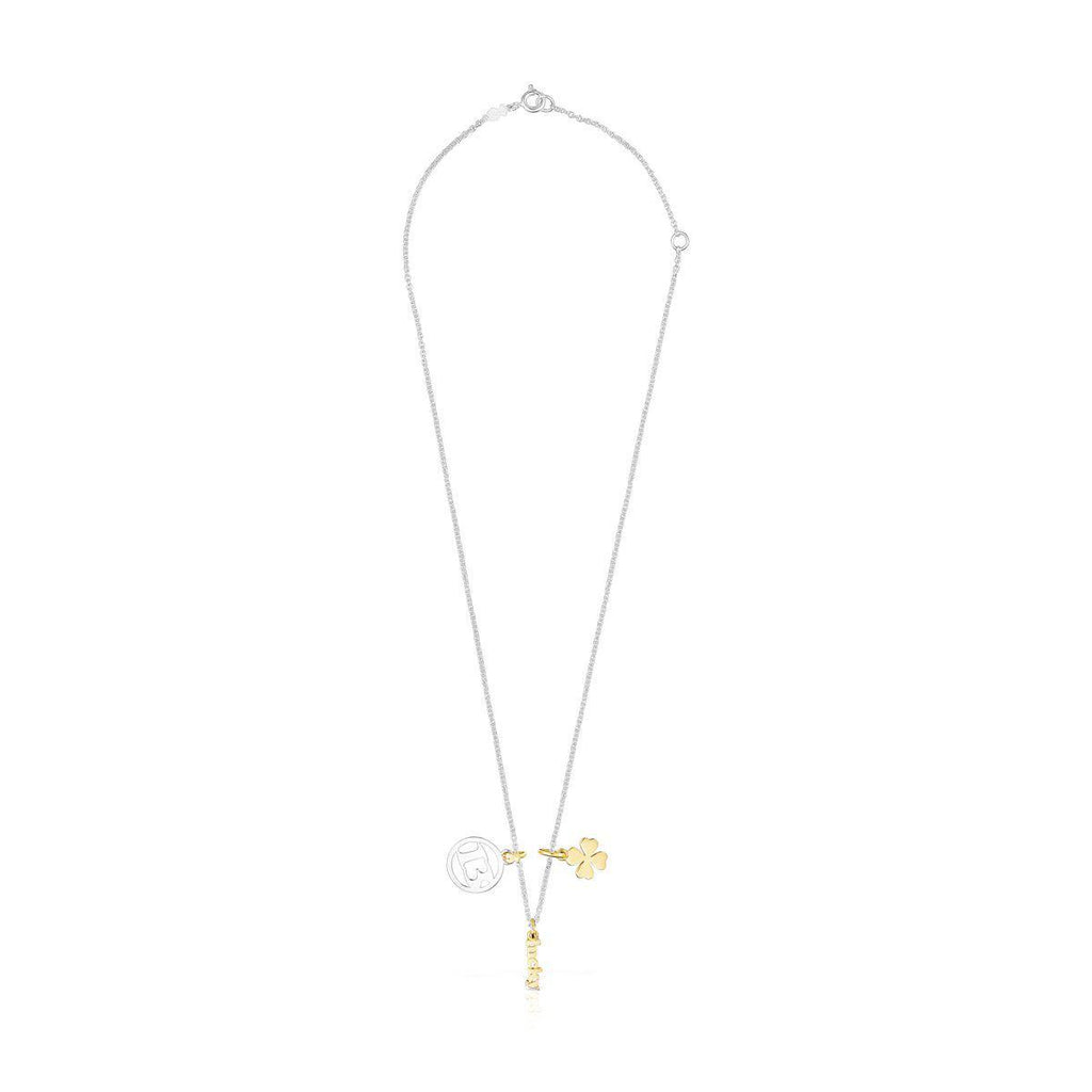 Silver TOUS Good Vibes 13 – Clover Necklace-Necklace-Tous Canada