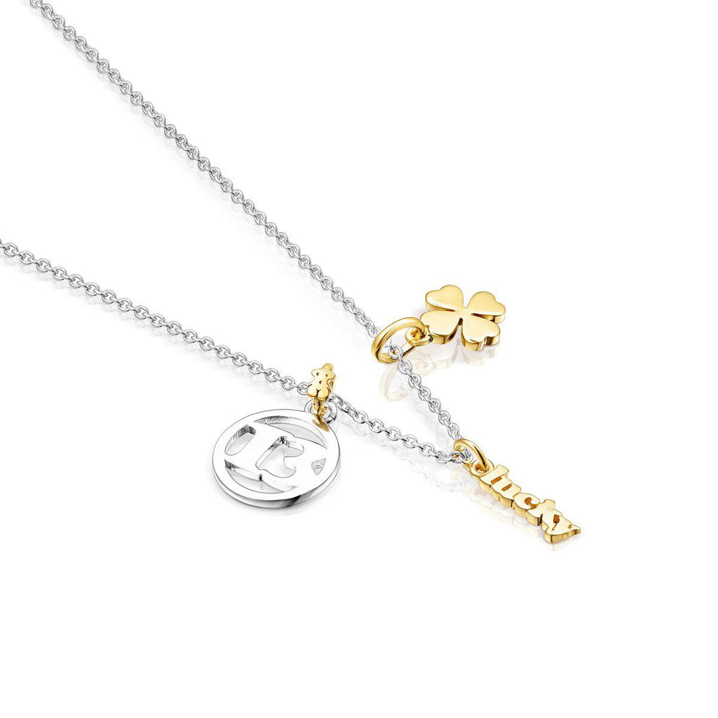 Silver TOUS Good Vibes 13 – Clover Necklace