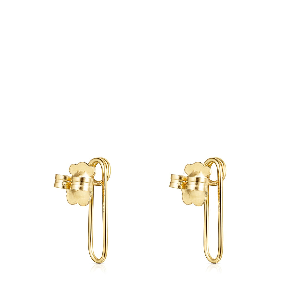 Silver Vermeil TOUS Good Vibes clip Earrings