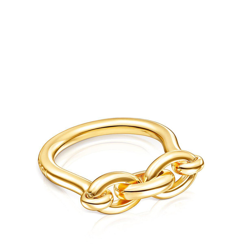 Silver Vermeil TOUS Good Vibes Ring-Ring-Tous Canada