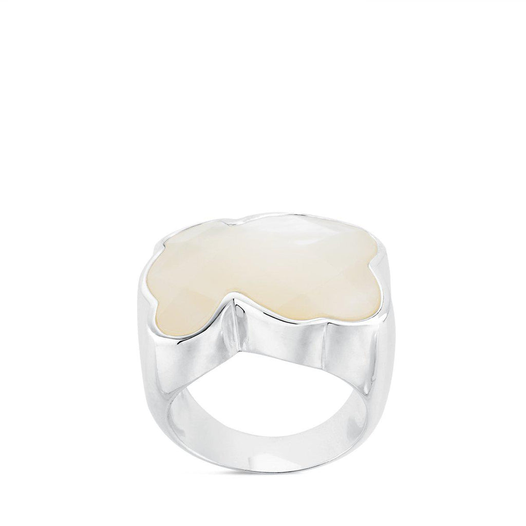 Silver Color Ring with mother-of-pearl