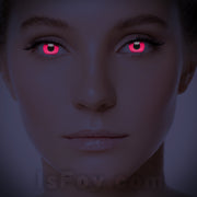 IsFoy® Soft Color Circle Lens PINK UV I-GLOW COLORED CONTACT LENSES K8614