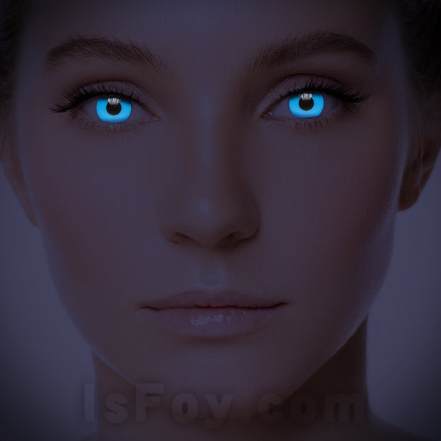 IsFoy® Soft Color Circle Lens BLUE UV I-GLOW COLORED CONTACT LENSES K8626