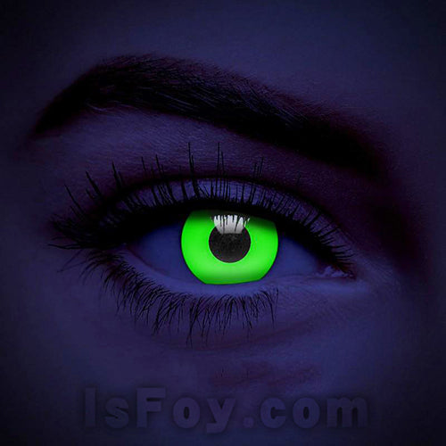 IsFoy® Soft Color Circle Lens GREEN UV I-GLOW COLORED CONTACT LENSES K8641