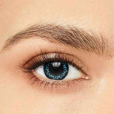 IsFoy® Soft Color Circle Lens AQUA BLUE BUTTERFLY COLORED CONTACT LENSES K8601
