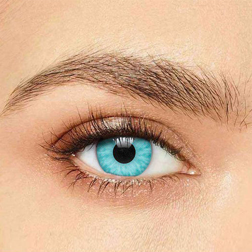 IsFoy® Soft Color Circle Lens AQUA BLUE ICE WALKER COLORED CONTACT LENSES K8603