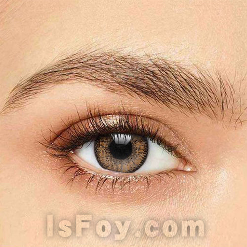 IsFoy® Soft Color Circle Lens LIGHT BROWN TWO TONE COLORED PRESCRIPTION CONTACT LENSES K8608