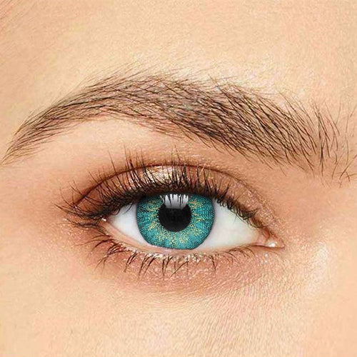 IsFoy® Soft Color Circle Lens MYSTIC TURQUOISE COLORED PRESCRIPTION CONTACT LENSES K8612