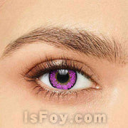 IsFoy® Soft Color Circle Lens PURPLE VIOLET TRI TONE COLORED CONTACT LENSES K8619