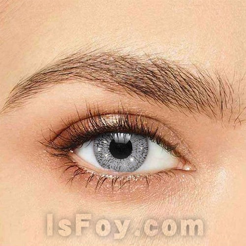 IsFoy® Soft Color Circle Lens SILVER GLIMMER COLORED CONTACT LENSES K8629