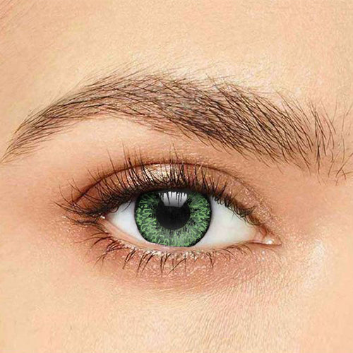 IsFoy® Soft Color Circle Lens GREEN MYSTIC TWO TONE COLORED CONTACT LENSES K8635