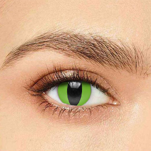 IsFoy® Soft Color Circle Lens GREEN REPTILE COLORED PRESCRIPTION CONTACT LENSES K8638