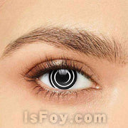 IsFoy® Soft Color Circle Lens BLACK SPIRAL HALLOWEEN COLORED CONTACT LENSES K8649