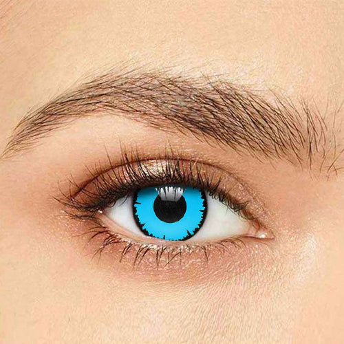 IsFoy® Soft Color Circle Lens BLUE ANGELIC HALLOWEEN COLORED PRESCRIPTION CONTACT LENSES K8653