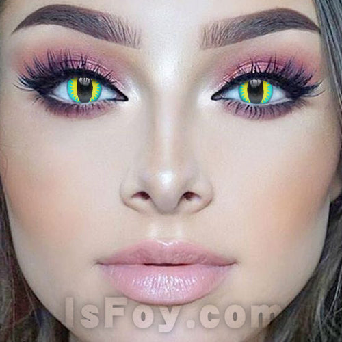 IsFoy® Soft Color Circle Lens BLUE DRAGON EYE COLORED CONTACT LENSES K8655