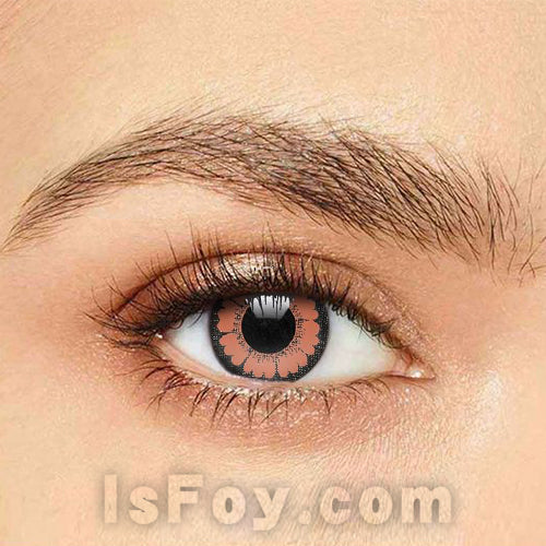 IsFoy® Soft Color Circle Lens BROWN HAZEL PRETTY BIG EYES COLORED CONTACT LENSES K8670