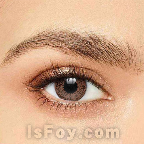 IsFoy® Soft Color Circle Lens BROWN ONE TONE COLORED CONTACT LENSES K8672