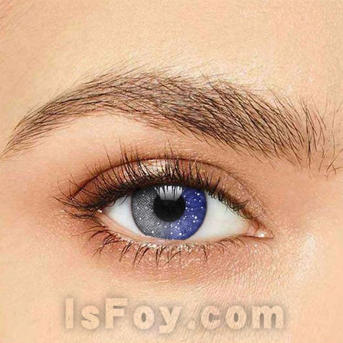 IsFoy® Soft Color Circle Lens GRAY GALAXY COLORED CONTACT LENSES K8684