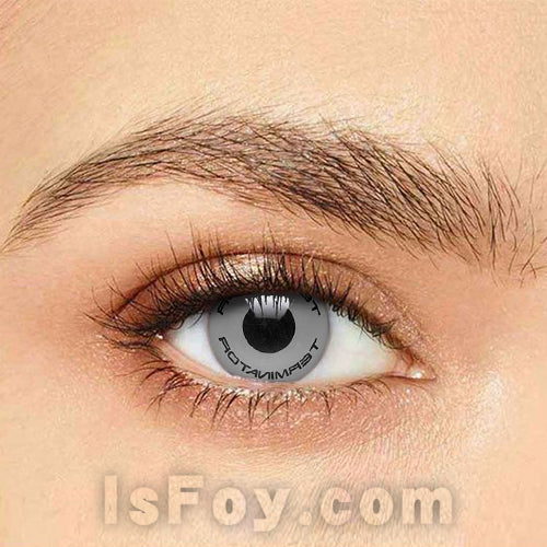IsFoy® Soft Color Circle Lens GRAY TERMINATOR TEXT COLORED CONTACT LENSES K8687