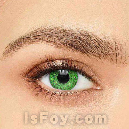 IsFoy® Soft Color Circle Lens GREEN GLIMMER COLORED CONTACT LENSES K8692