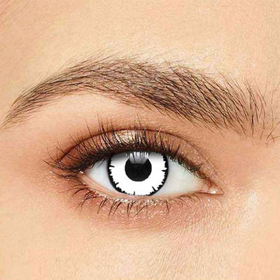 IsFoy® Soft Color Circle Lens WHITE ANGELIC HALLOWEEN COLORED CONTACT LENSES K8694