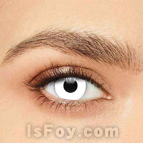 IsFoy® Soft Color Circle Lens WHITE HALLOWEEN ZOMBIE COLORED CONTACT LENSES K8695