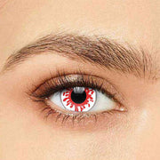 IsFoy® Soft Color Circle Lens WHITE RED REAPER COLORED PRESCRIPTION CONTACT LENSES K8700