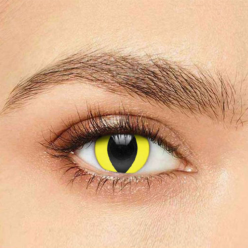IsFoy® Soft Color Circle Lens YELLOW CAT COLORED PRESCRIPTION CONTACT LENSES K8702