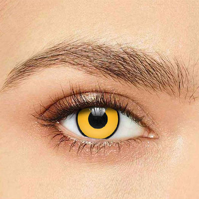 IsFoy® Soft Color Circle Lens YELLOW MAD HATTER COLORED CONTACT LENSES K8704