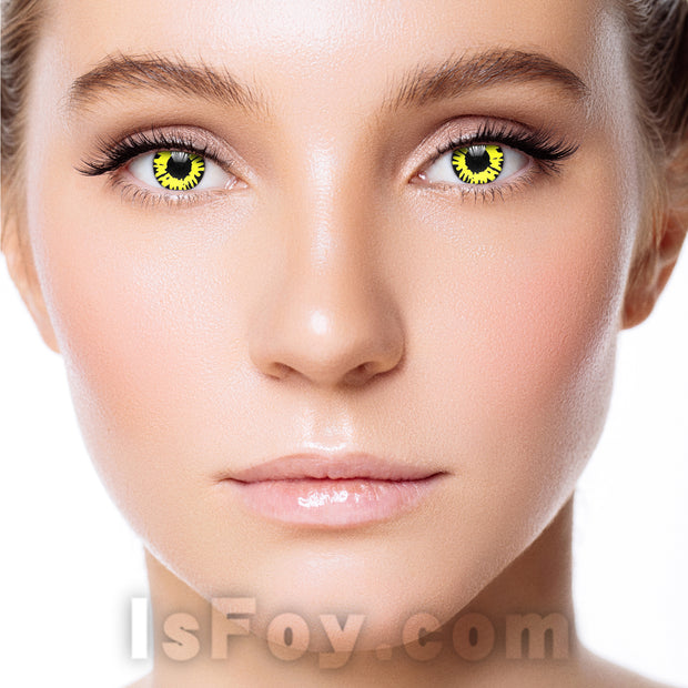 IsFoy® Soft Color Circle Lens YELLOW TWILIGHT WEREWOLF COLORED CONTACT LENSES K8705