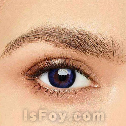 IsFoy® Eye Color Circle Lens Blue-Purple Hazel Colored Contact Lenses V6007