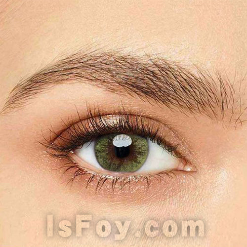 IsFoy® Eye Color Circle Lens Crystal Ball Yellow-Green II Colored Contact Lenses V6018