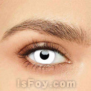 IsFoy® Eye Color Circle Lens Zombie Curse White Colored Contact Lenses V6031