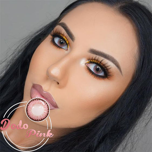 IsFoy® Eye Color Circle Lens Dodo Pink Colored Contact Lenses V6037