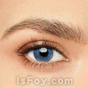 IsFoy® Eye Color Circle Lens Floweriness Blue Colored Contact Lenses V6049