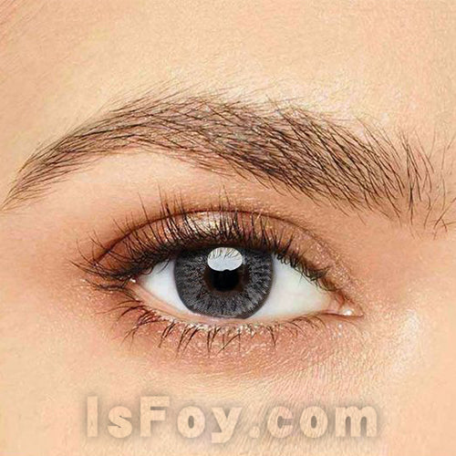 IsFoy® Eye Color Circle Lens Floweriness Grey Colored Contact Lenses V6052