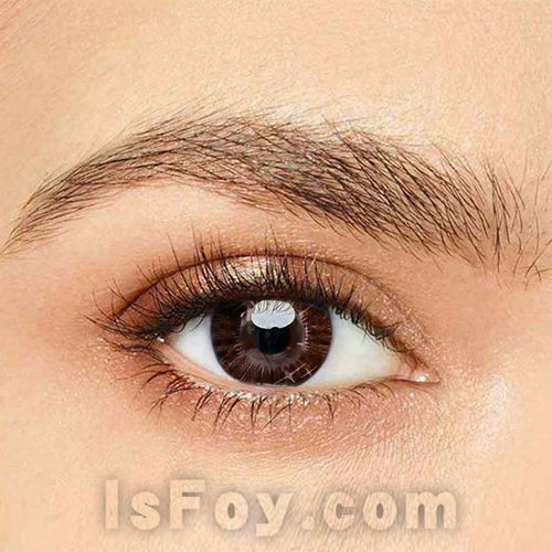 IsFoy® Eye Color Circle Lens Gradient Star Chocolate Colored Contact Lenses V6053