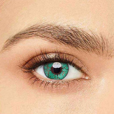 IsFoy® Eye Color Circle Lens Fissure Green Colored Contact Lenses V6054