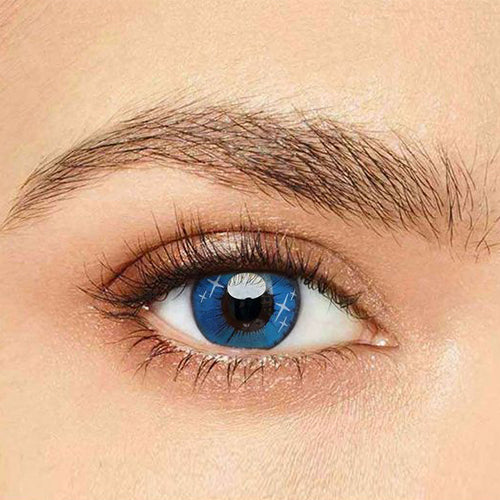 IsFoy® Eye Color Circle Lens Gradient Star Blue Naruto Colored Contact Lenses V6064
