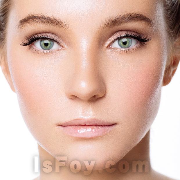 IsFoy® Eye Color Circle Lens HD Green-Grey Colored Contact Lenses V6073