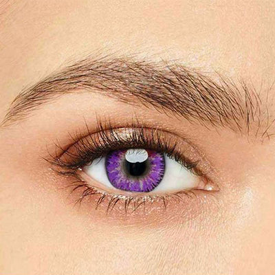 IsFoy® Eye Color Circle Lens Mystery Purple Colored Contact Lenses V6096