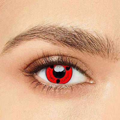 IsFoy® Eye Color Circle Lens Sharingan Magatama Naruto Colored Contact Lenses V6128