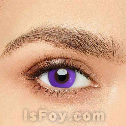 IsFoy® Eye Color Circle Lens Pure Purple Colored Contact Lenses V6136