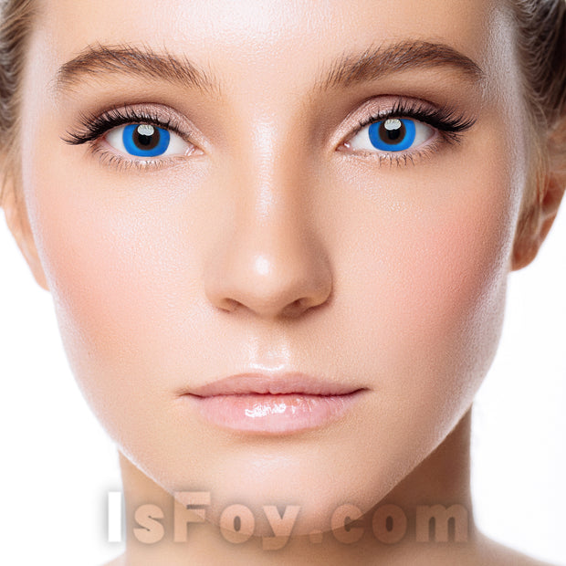 IsFoy® Eye Color Circle Lens Pure Blue Colored Contact Lenses V6137