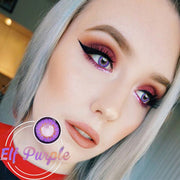 IsFoy® Eye Color Circle Lens Elf Purple Colored Contact Lenses V6140