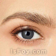 IsFoy® Eye Color Circle Lens Black spiral Special Effect Colored Contact Lenses V6144