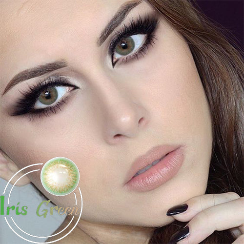IsFoy® Eye Color Circle Lens Iris Green Colored Contact Lenses V6195